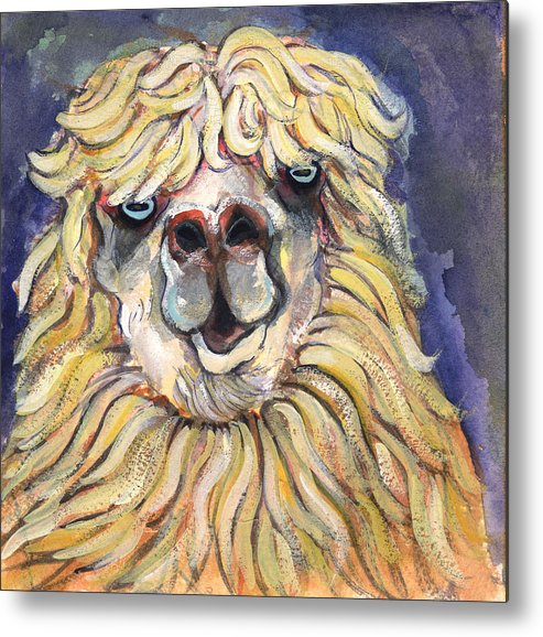 Animals Metal Print featuring the painting Alpaca by Michelle Spiziri
