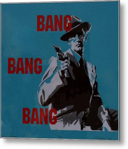 Mob Metal Print featuring the painting Bang Bang Bang 1 by Robin DeLisle