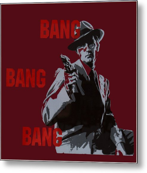 Man Metal Print featuring the painting Bang Bang Bang 5 by Robin DeLisle