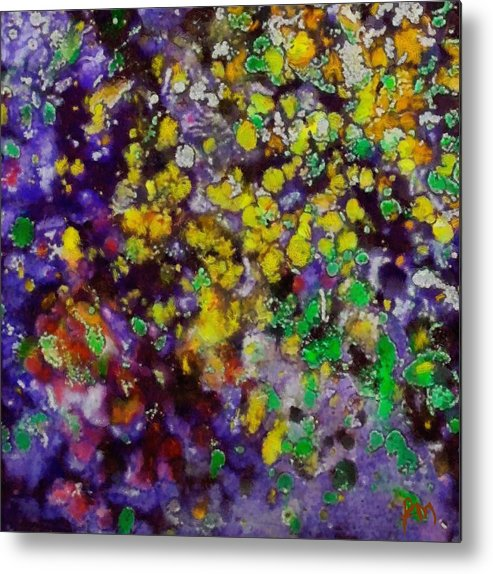 Bubbles Metal Print featuring the painting Bubbles by Dragica Micki Fortuna