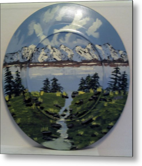 Mountains Metal Print featuring the painting Cold Water Creek by James Jones