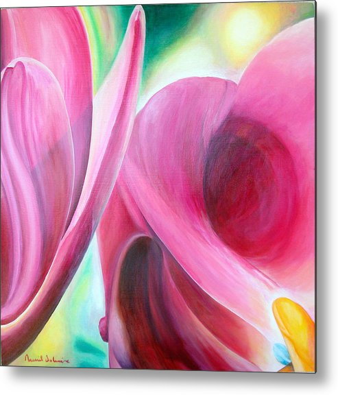 Fleurs Metal Print featuring the painting Detail by Muriel Dolemieux