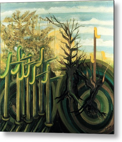 Fantastic Forest  Metal Print featuring the painting Fantastic Forest by Ione Citrin