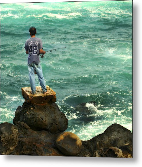 Americana Metal Print featuring the photograph Fisherman by Marilyn Hunt