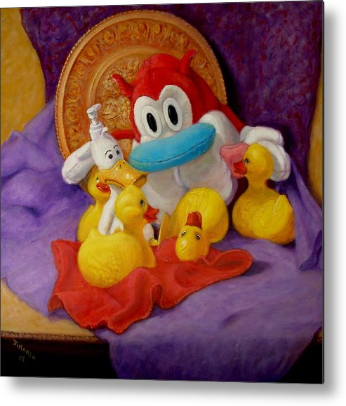 Realism Metal Print featuring the painting Friends by Donelli DiMaria