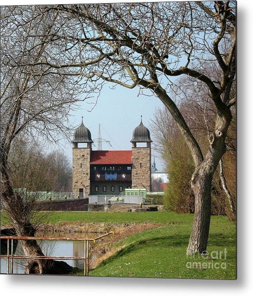 Historic Lift Lock Metal Print featuring the photograph Historic Lift Lock II by Christiane Schulze Art And Photography