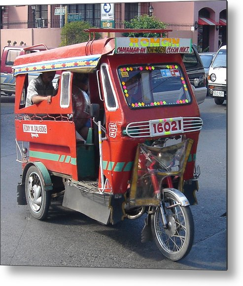 Jeepney Metal Print featuring the photograph Jeepney 05 by Mike Holloway