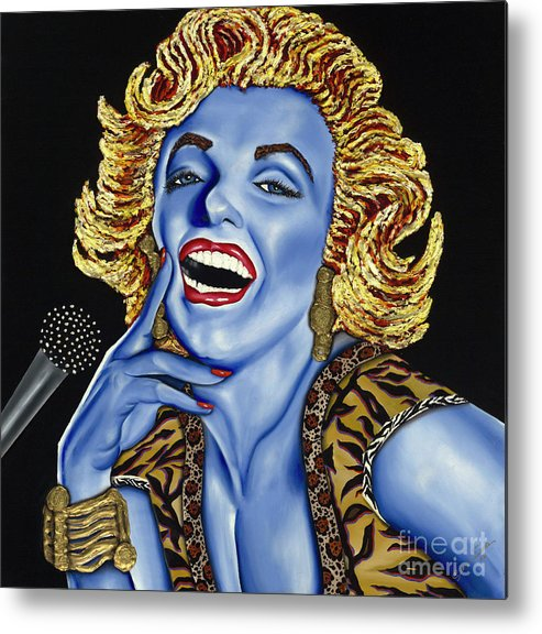 Portrait Metal Print featuring the painting Marilyn by Nannette Harris