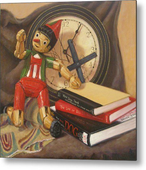 Realism Metal Print featuring the painting Pinocchio by Donelli DiMaria