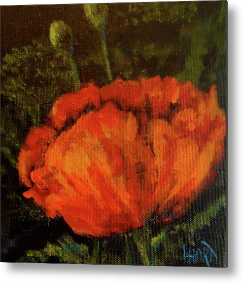 Poppy Metal Print featuring the painting Poppy IIi by Lana Hart