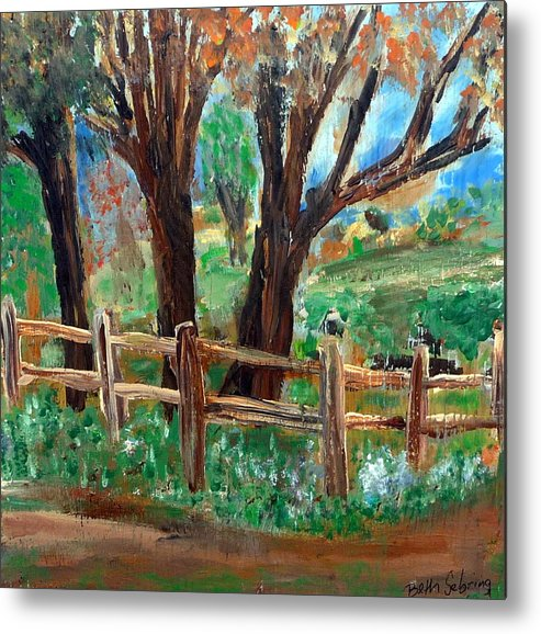 Landscape Metal Print featuring the painting Rt 579 by Beth Sebring
