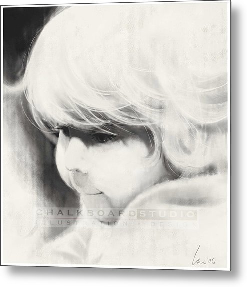 Portrait Metal Print featuring the drawing Sarah by Laurie Musser