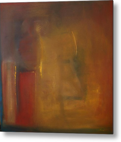 Metal Print featuring the painting Softly Reflecting by Jack Diamond