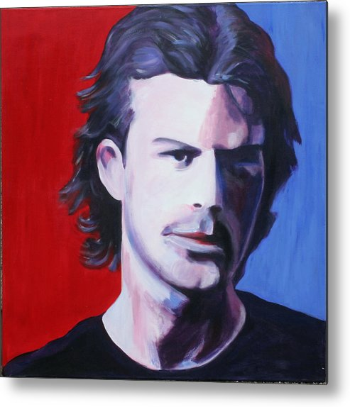 Portrait Metal Print featuring the painting Solo Man by Fiona Jack