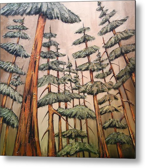 Trees Metal Print featuring the painting Standing Tall by Lori McPhee