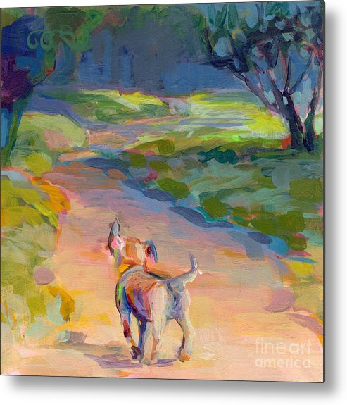 Puppy Metal Print featuring the painting The Road Ahead by Kimberly Santini