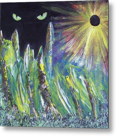 Surreal Metal Print featuring the painting Eclipse by Tony Rodriguez