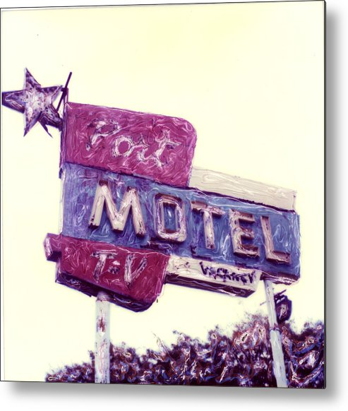Polaroid Metal Print featuring the photograph Port Motel by Steven Godfrey