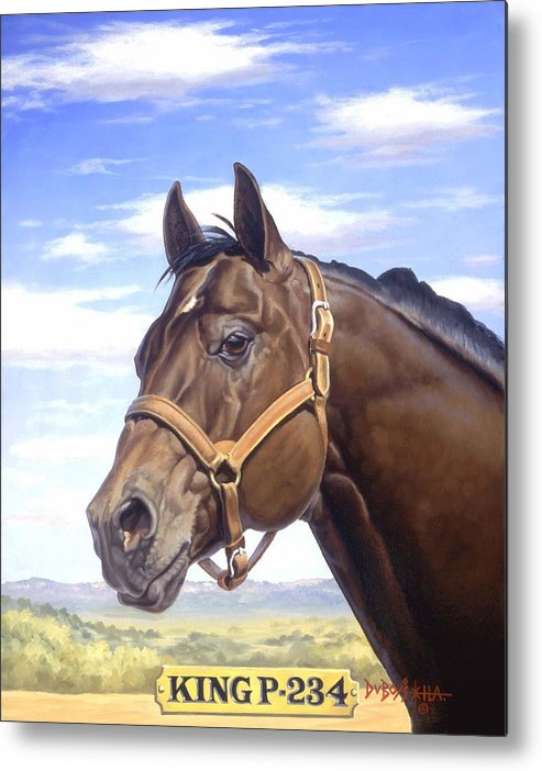 Quarter Horse Metal Print featuring the painting King P234 by Howard Dubois