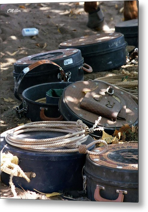 Rodeo Metal Print featuring the photograph Rope Cans.. by Carol Miller