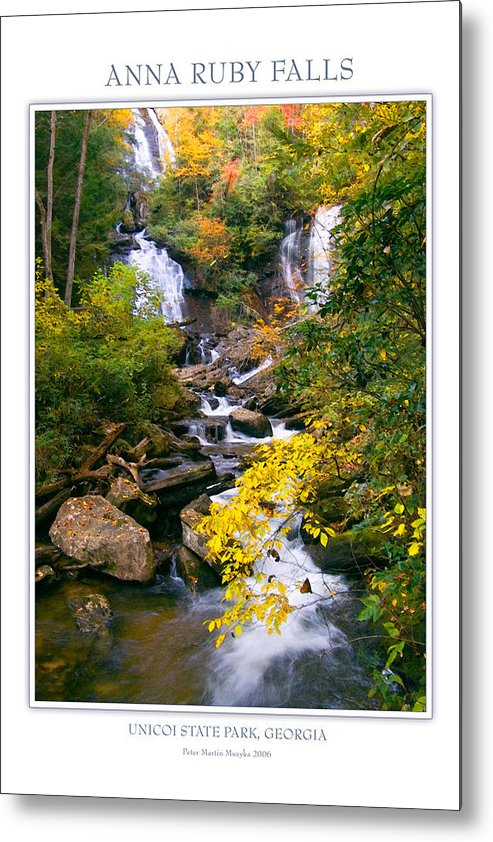 Landscape Metal Print featuring the photograph Anna Ruby Falls by Peter Muzyka