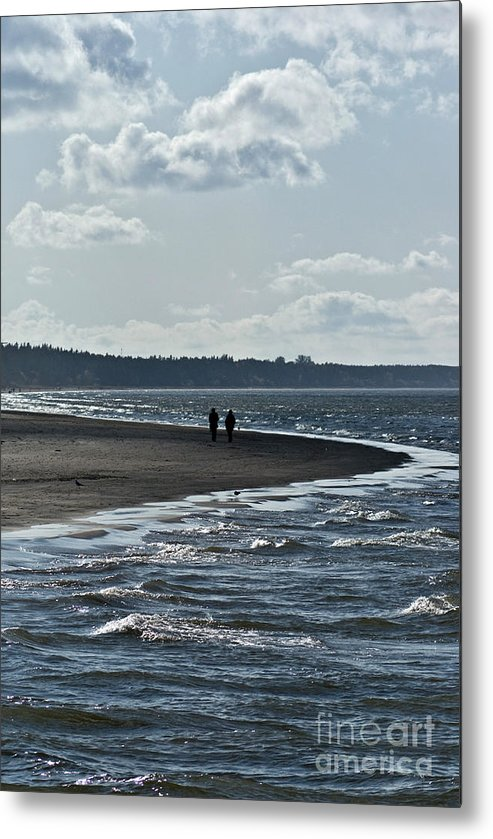 Waves Metal Print featuring the photograph two by Vadim Grabbe