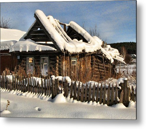 Winter Metal Print featuring the photograph Abandoned by Vladimir Kholostykh