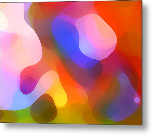 Abstract Art Metal Print featuring the painting Abstract Dappled Sunlight by Amy Vangsgard