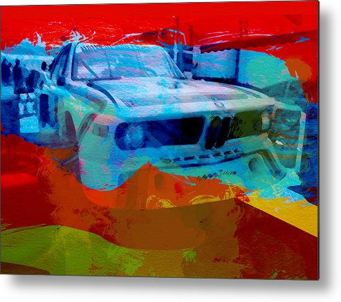 Bmw Racing Classic Bmw Metal Print featuring the photograph Bmw Laguna Seca by Naxart Studio