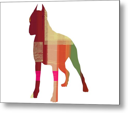 Boxer Metal Print featuring the painting Boxer 2 by Naxart Studio