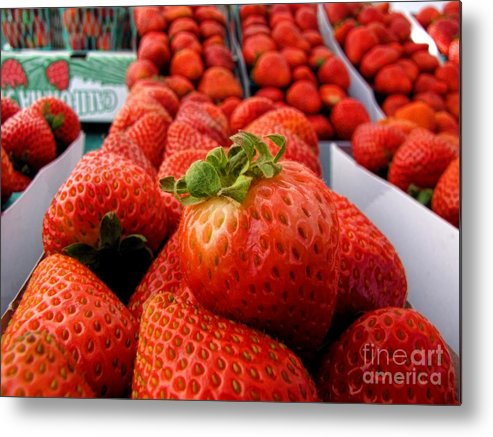 Fruit Metal Print featuring the photograph Fresh Strawberries by Peggy Hughes
