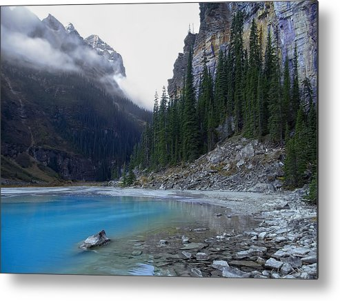 lake Louise Metal Print featuring the photograph Lake Louise North Shore - Canada Rockies by Daniel Hagerman