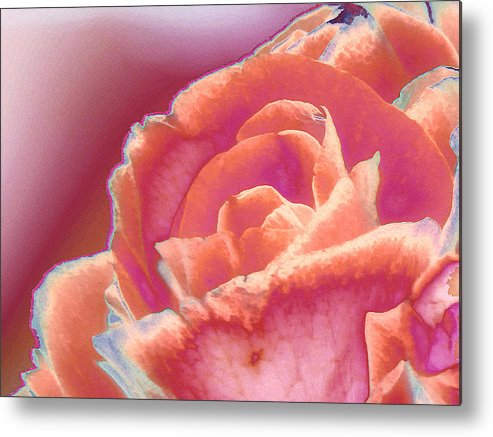 Rose Metal Print featuring the digital art Love Story - Forever by Wendy J St Christopher
