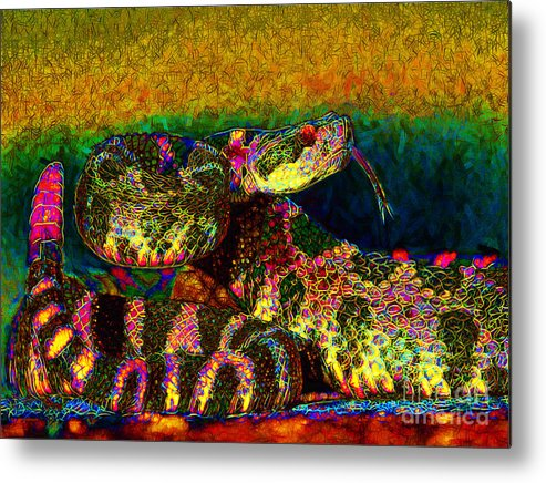 Rattlesnake Metal Print featuring the photograph Rattlesnake 20130204p0 by Wingsdomain Art and Photography