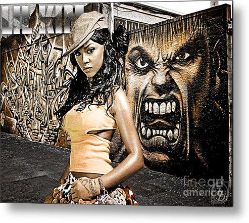 Digital Art Metal Print featuring the digital art Lil Kim by The DigArtisT