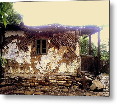 Years Old House Metal Print featuring the relief 230 Years Old House by Romeo Popescu
