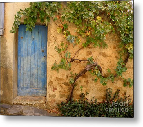 Door Metal Print featuring the photograph Provence Door 5 by Lainie Wrightson