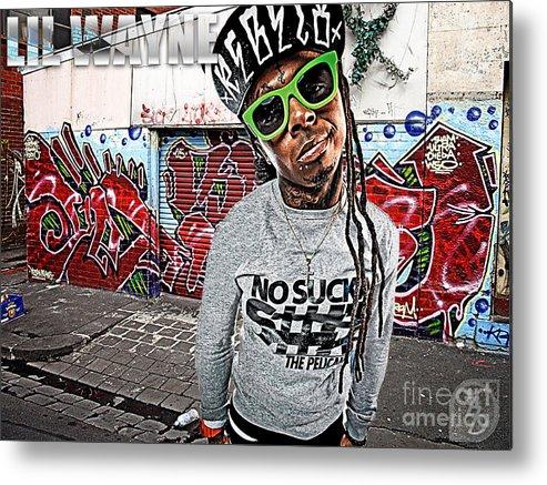 Little Wayne Metal Print featuring the digital art Street Phenomenon Lil Wayne by The DigArtisT