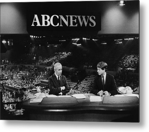 1980s Metal Print featuring the photograph Us Elections. From Left Frank Reynolds by Everett