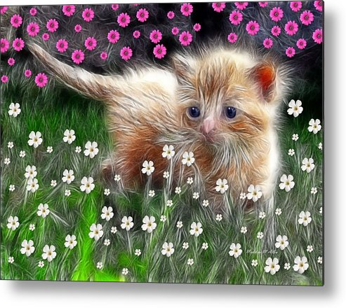 Smudgeart Metal Print featuring the digital art Mouse Hunter by Madeline Allen - SmudgeArt