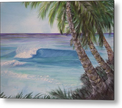 Winter Surf Metal Print featuring the painting So Fine by Laura Johnson
