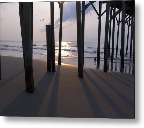 Pier Metal Print featuring the photograph Under Pier by Paul Boroznoff