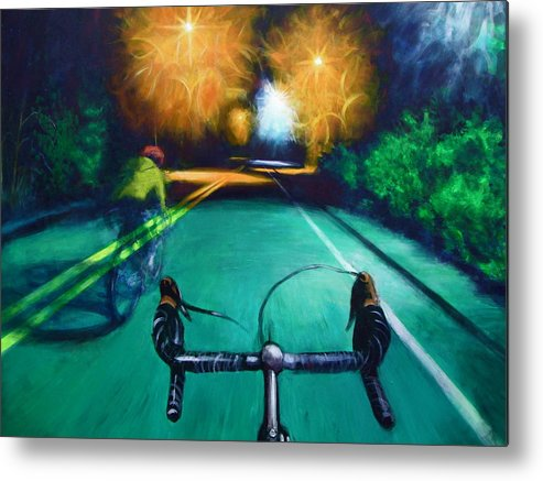 Bicycle Metal Print featuring the painting Untitled by Chris Slaymaker