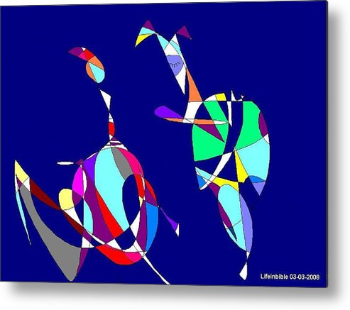 Princess Metal Print featuring the painting Abstract by Victoria Wang