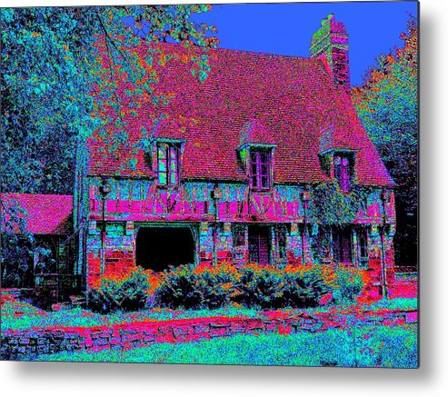 Cottage Metal Print featuring the painting 91f Dream Cottage by Ed Immar