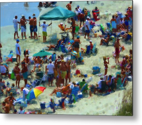 Beach Metal Print featuring the photograph A Day At The Beach by Jeff Breiman