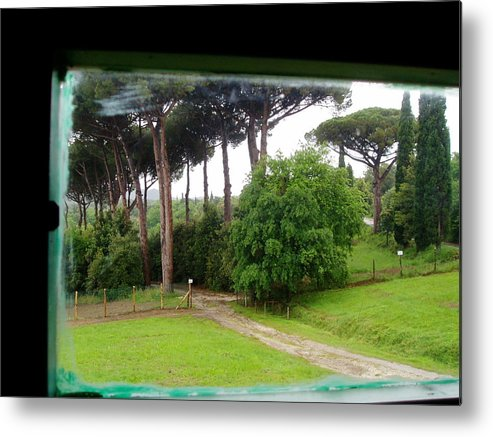 Tuscany Under The Rain Metal Print featuring the photograph A Room With A View by Marcello Mellino