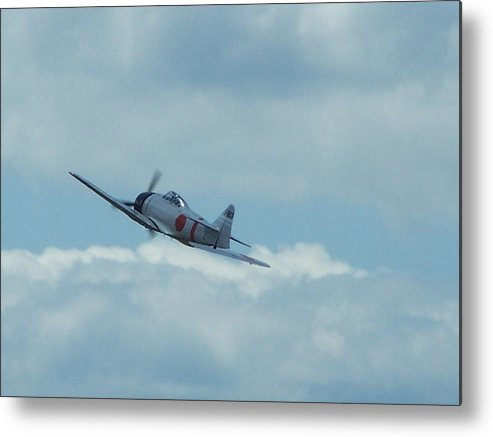 Japanese Zero Metal Print featuring the photograph A6m Zero by Gene Ritchhart