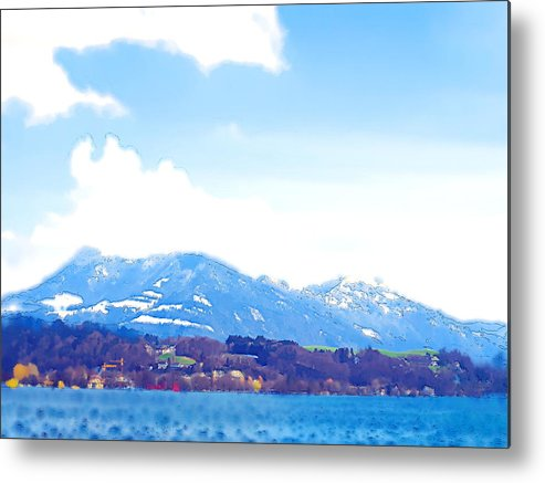 Landscape Metal Print featuring the photograph Across The Lake by Chuck Shafer