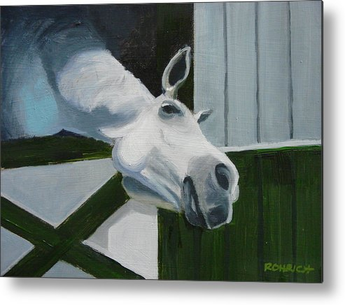 Horse Metal Print featuring the painting Ah Common A Little More by Robert Rohrich